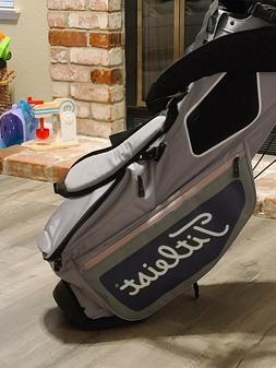 2019 Titleist Hybrid 5 Golf Bag Charcoal/Gray/Petal with Rai