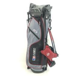 USKG 60 US Kids Golf Junior Stand Golf Bag Black And Gray 31