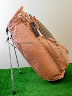 OUUL Alligator Stand Golf Bag 5-Way Pink W Rain Hood New