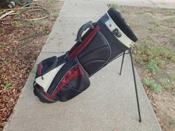 Nancy Lopez Black / Maroon Carry Women's Golf Bag With Stand