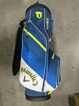 Callaway Chev Stand Golf Bag 14 Way Top Blue/White/Green