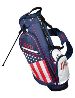 New Hot-Z Golf 2018 USA American Flag Golf Stand Bag