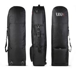 Golf Bag Stand Air Travel Cover Large Zipper Wheels Flight C