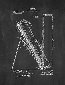 Golf Bag Stand Patent Print Chalkboard