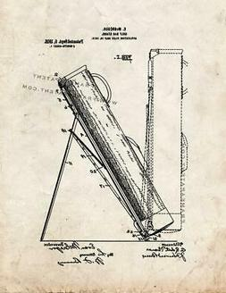 Golf Bag Stand Patent Print Old Look