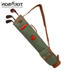 Golf Club Stand Bag Carry 10 Clubs Fold Case Portable Sunday