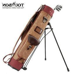 Tourbon Golf Club Stand Bag Carry Cart Travel Case Staff Pac