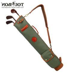 Golf Club Stand Bag Fold Case Portable Carry 10 Clubs Sunday