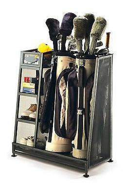 Golf Equipment Organizer Two Bags Clubs Storage Golf Accesso