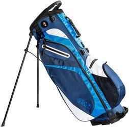 Izzo Golf Izzo Lite Stand Golf Bag Dark Blue/Light Blue/Whit