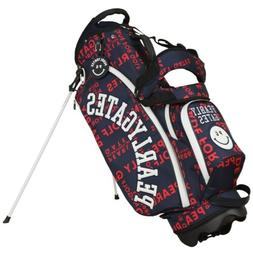 PEARLY GATES Graphics Smiley Stand Bag Navy x Red Color Mode
