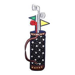 ID 1509 Golf Club Bag Patch Spades Carrying Stand Embroidere
