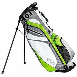 IZZO Golf Izzo Lite Stand Golf Bag Dark Blue/Light Lime_Whit