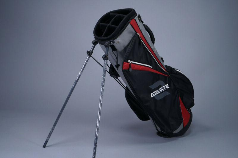 5 way divider golf stand bag red