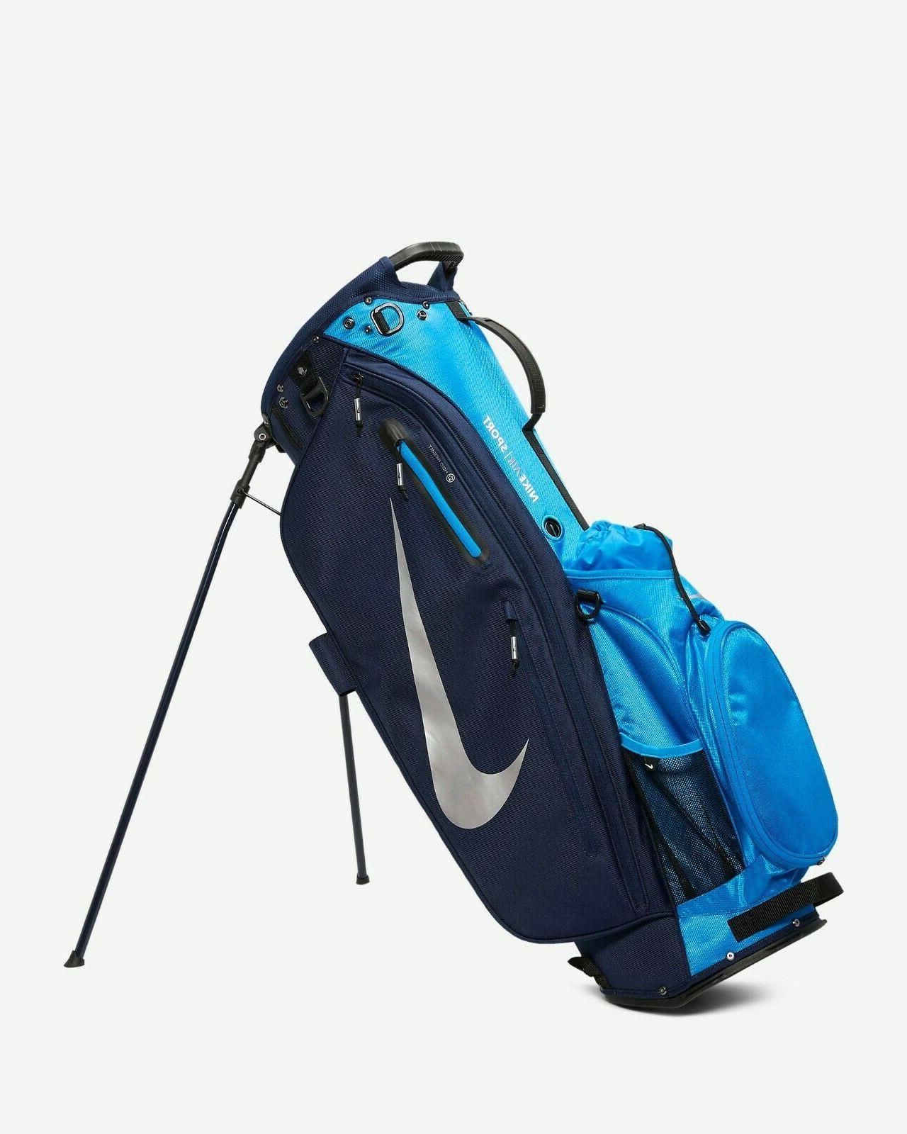 Nike Sport Golf Bag Pop-out Stand Navy Chrome