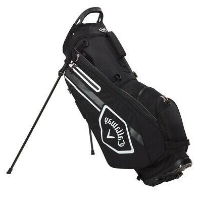 chev stand golf bag black charcoal white