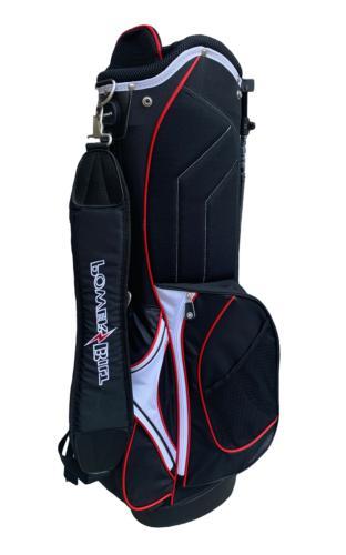 Powerbilt Deluxe Black / Red Golf Stand Bag – 5