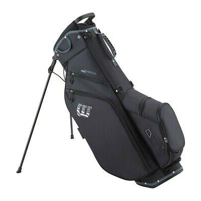 feather carry stand bag golf bag black