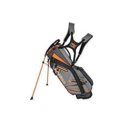 golf 2020 ultralight stand bag gray orange