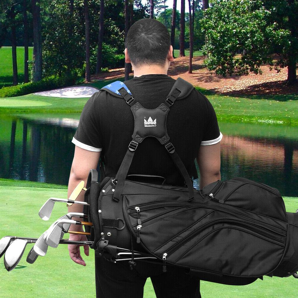 New Golf Double Shoulder Strap Thick For Stand Bag Non-Slip Comfort