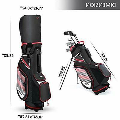 Golf Stand Men 14 Way Divider, with Cooler Bag Portable