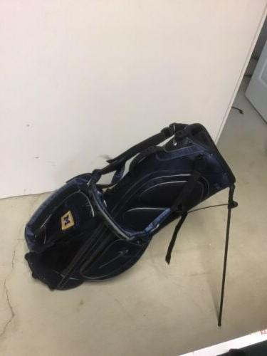 golf stand carry bag uofmichigan emblem raincover