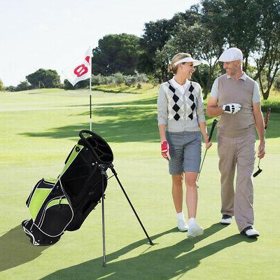 Golf Cart Club w/6 Way Divider Carry Organizer Pockets Green