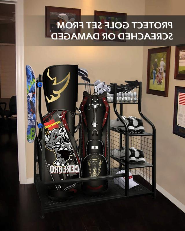 Mythinglogic Golf Storage Organizer, 2 Storage Stand and G