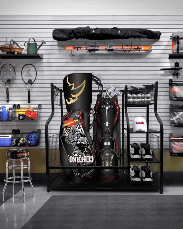 Mythinglogic Golf Storage Garage Organizer, Storage Stand and G