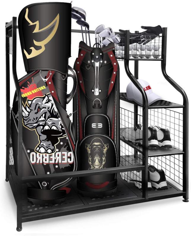 golf storage garage organizer 2 golf bag