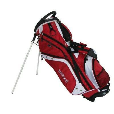 Tour Edge HT Max-D Stand Bag - Red/White , Red/White