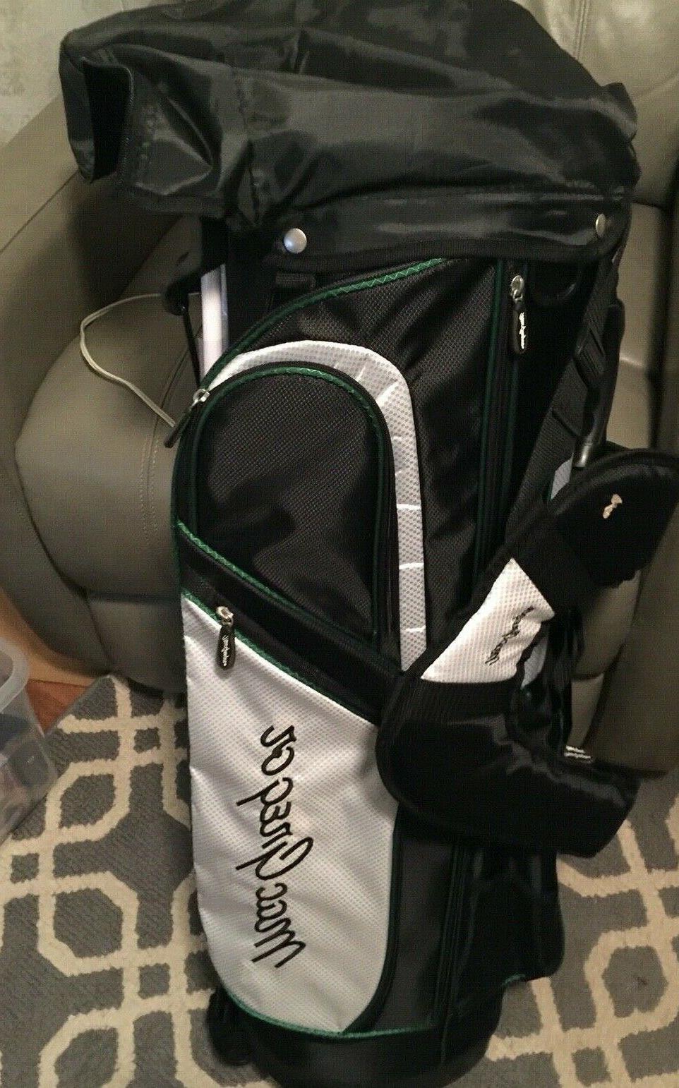 jr golf club bag green w stand
