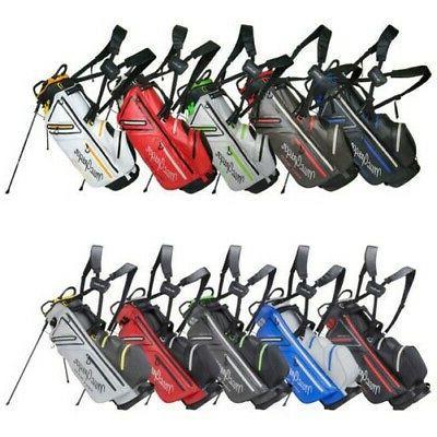 mactec water resistant stand golf bag 9