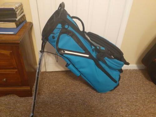 new flextech stand golf bag teal blue