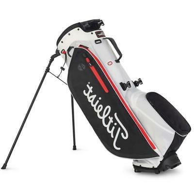 new players 4 plus stand bag white
