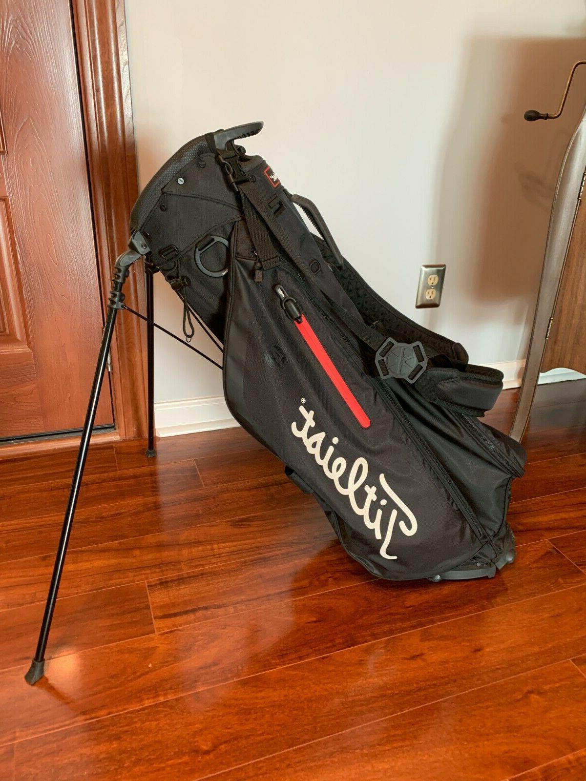 players 4 stand golf bag black