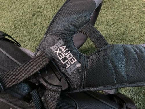Nike Sport Golf Bag Black Dark Gray Silver 5-Way Top NEW!!