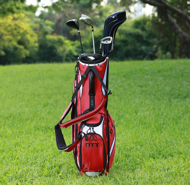 Super Golf Stand Bag Pockets Cooler Back Strap