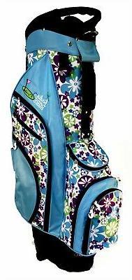 Birdie Babe Turquoise Flowered Ladies Womens Hybrid Golf Bag