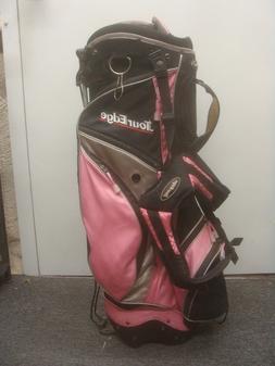Tour Edge ladies PINK & BLACK Carry Stand Golf Bag - Read De