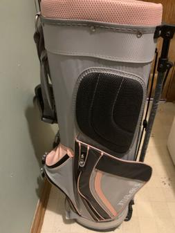 TOP FLITE Lightweight Carry Stand Golf Club Bag PINK BLACK S