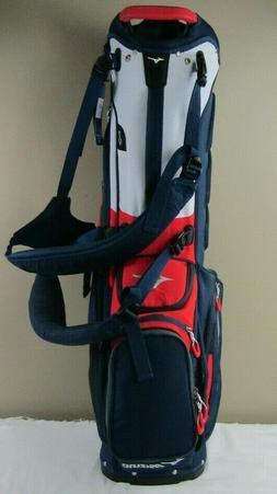 Mint Mizuno BR-D4 Carry/Stand Golf Bag, Color Navy, Red Whit