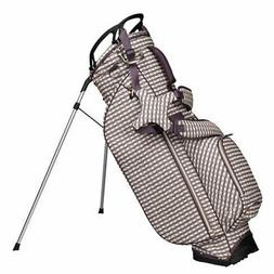 NEW 2019 OUUL WOMEN CHECKWAVE STAND BAG LIGHT BROWN