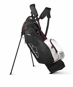 New Sun Mountain Golf- 2.5+ Stand Bag Black/White/Red