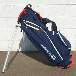 NEW TaylorMade Golf 2017 FlexTech Lite Stand Bag Navy / Red