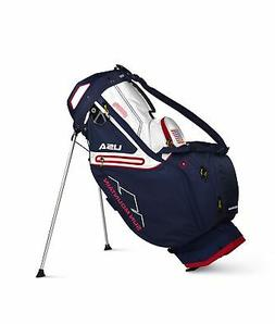 New Sun Mountain Golf C-130S Stand Bag Navy/White/Red