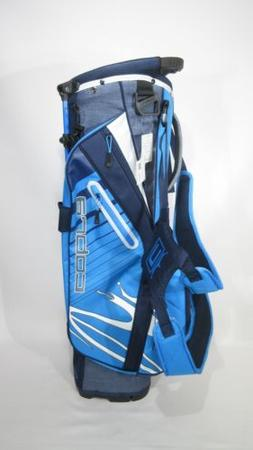 New! COBRA GOLF MEN'S UL20 ULTRALIGHT BLUE STAND BAG w/ Rain
