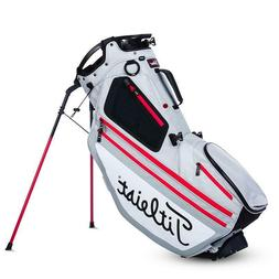 New Titleist Golf Players Hybrid 14 Stand Bag Silver White R