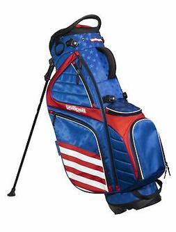 New Bag Boy Golf USA HB-14 Hybrid Stand Bag Blue/Red/White