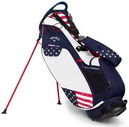 New Callaway Hyper Lite HL3 Stand Carry Golf Bag Navy Red Wh
